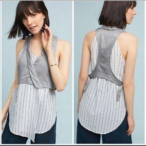 Anthropologie Maeve sleeveless blouse vest